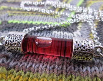 Spirit Level Necklace - Red - Stim Toy - Large