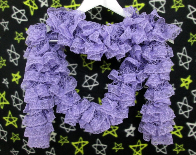 Lace Ruffle Scarf - Lavender