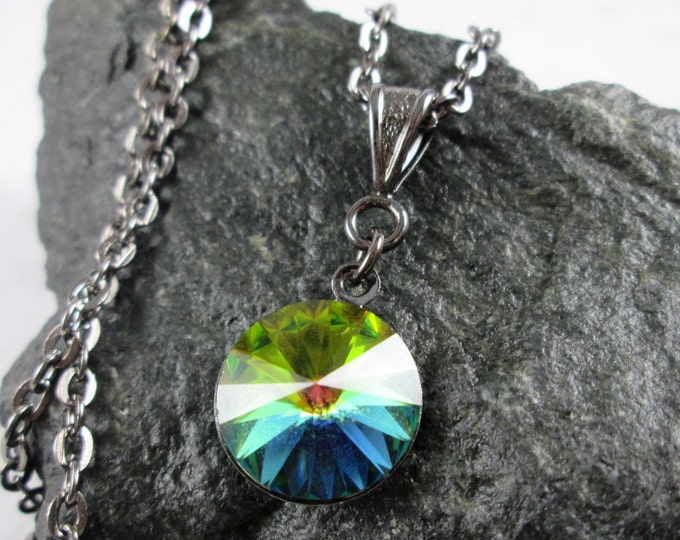 Swarovski Crystal Necklace - Vitrail Rivoli - Rainbow
