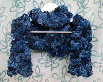 Brain Scarf - Navy Blue