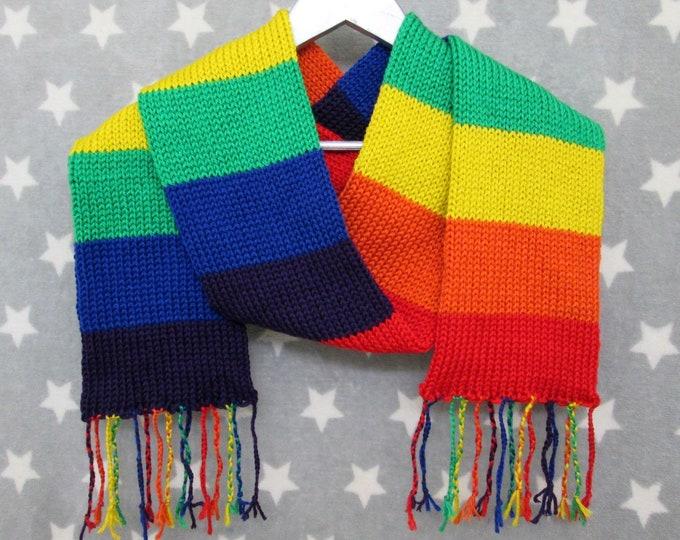 Rainbow Pride Scarf - Soft Wool Acrylic Blend