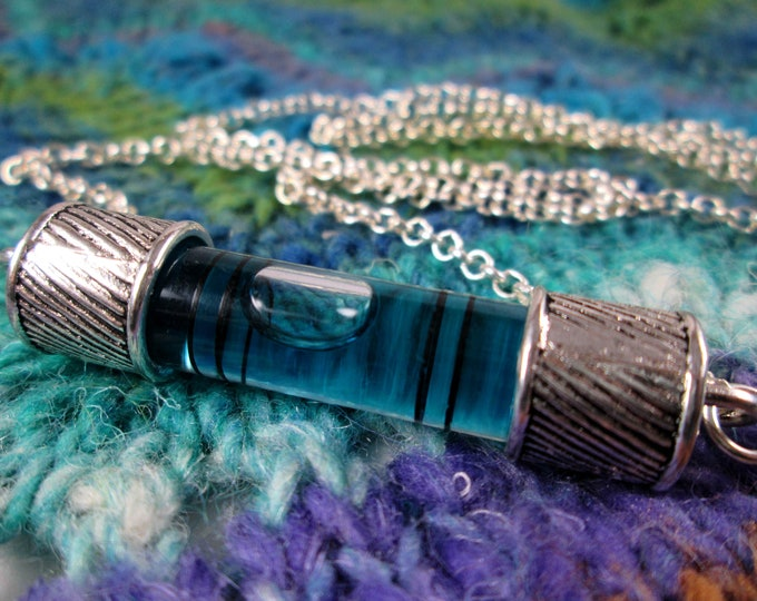Spirit Level Necklace - Teal Blue - Stim Toy - Large