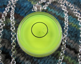 Spirit Level Necklace - Neon Yellow - Stim Toy - Large