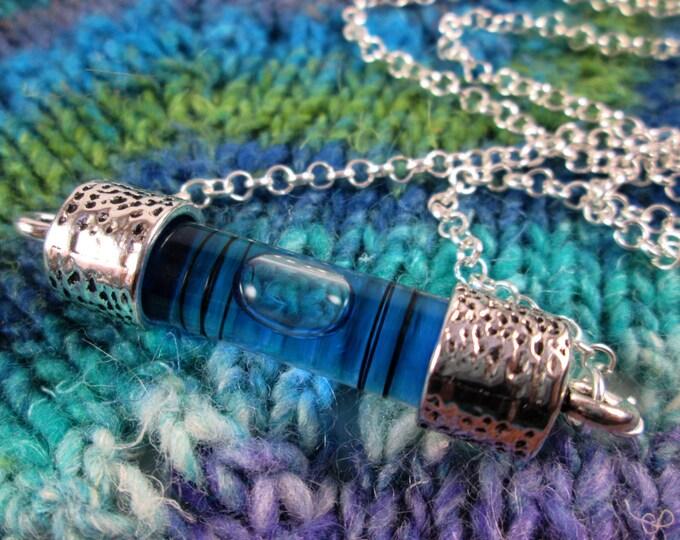 Spirit Level Necklace - Blue - Stim Toy - Large