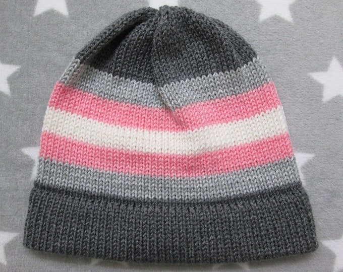 Knit Pride Hat - Demigirl Pride - Fitted Beanie - Acrylic