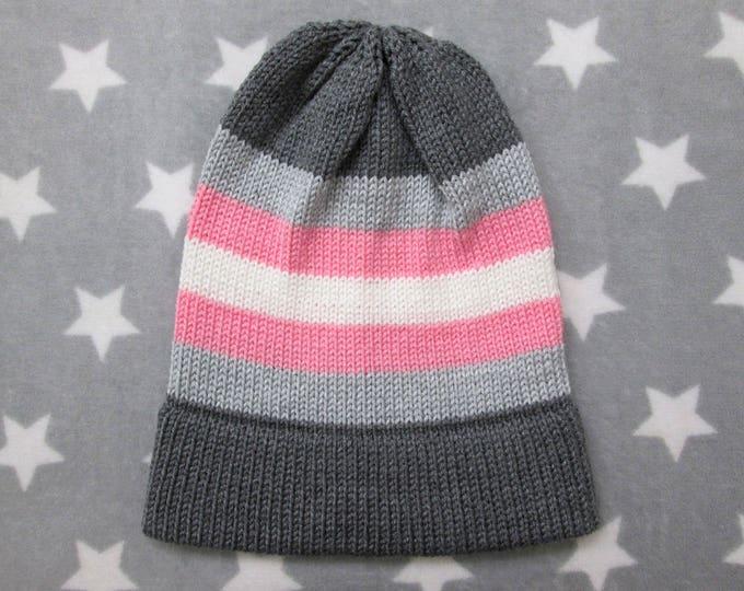 Knit Pride Hat - Demigirl Pride - Slouchy Beanie - Acrylic