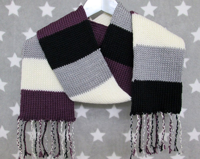 Ace Pride Scarf - Soft Wool Acrylic Blend