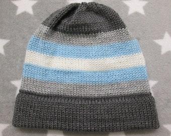 0e04e0a603e Knit Pride Hat - Demiboy Pride - Fitted Beanie - Acrylic