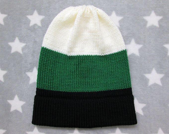 Knit Pride Hat - Neutrois Pride - Slouchy Beanie