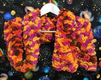 Brain Scarf - Orange, Magenta, Brown