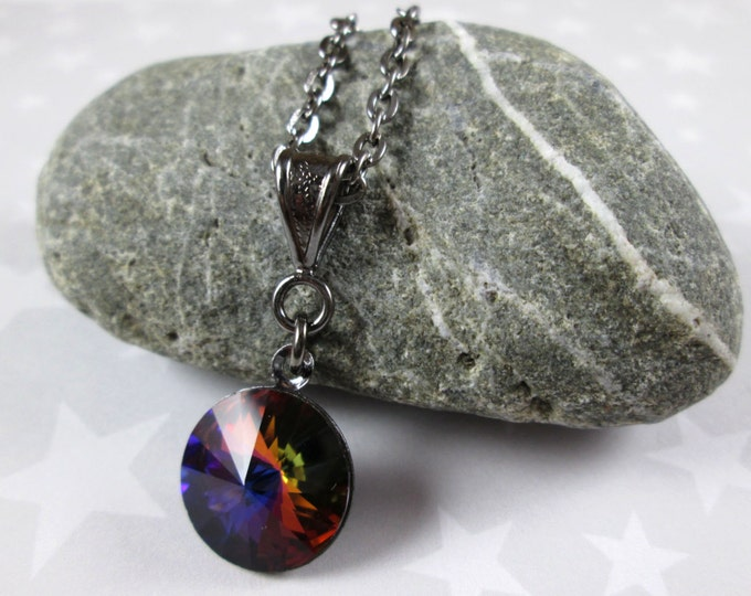 Swarovski Crystal Necklace - Volcano Rivoli