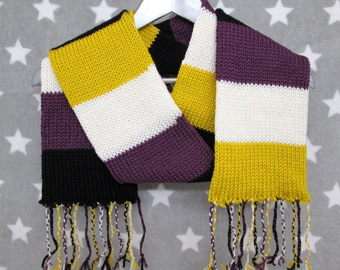 Nonbinary Pride Scarf - Soft Wool Acrylic Blend