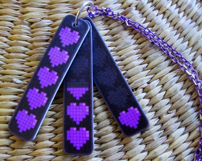 Communication Necklace - Health Bar - Purple