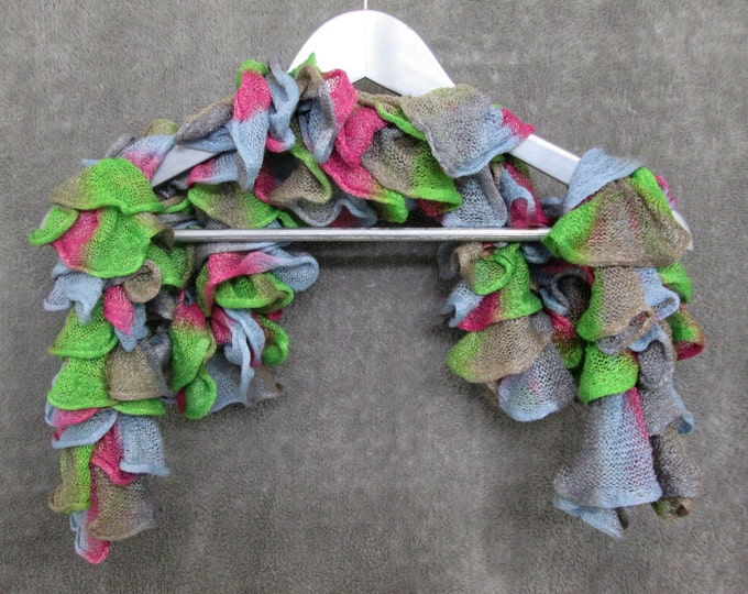 Shimmery Spring Ruffle Scarf