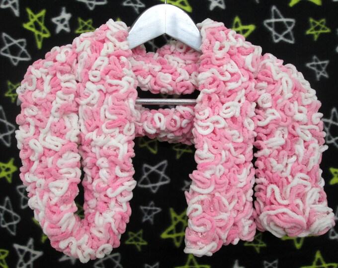 Brain Scarf - Pink & White