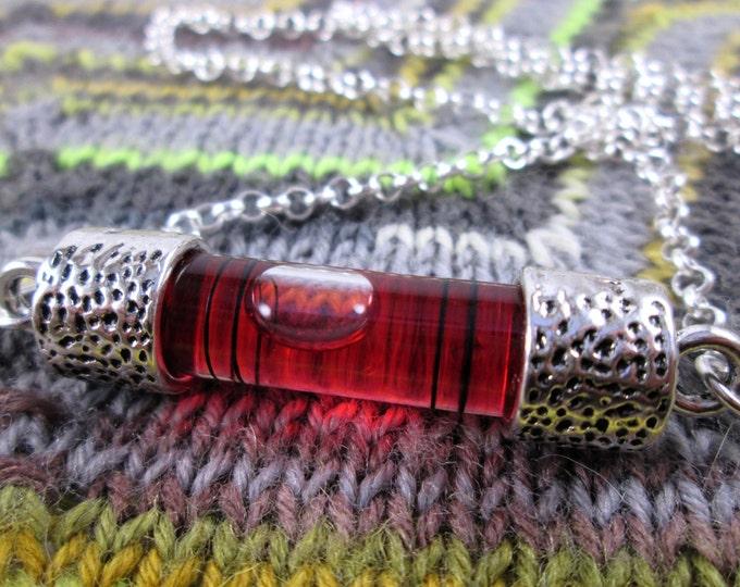 Spirit Level Necklace - Red - Stim Toy - Large