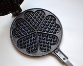 Vintage cast iron Jotul Jøtul nr. 6 heart shape waffle pan from Norway