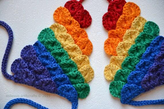 Farben des Regenbogens Dragon Maßstab barfuss Sandalen   Etsy