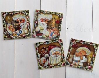 "Postcard paintings series ""Santa"" prints for framing, post card of Stephanie Holbert"