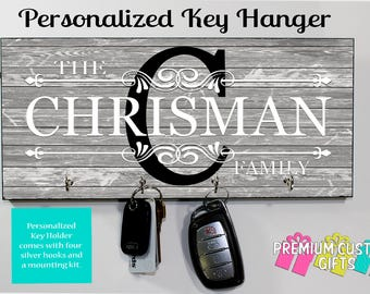 Personalized Wall Rack Key Holder Made of MDF and Perfect For A Housewarming, Wedding, or Anniversary Gift