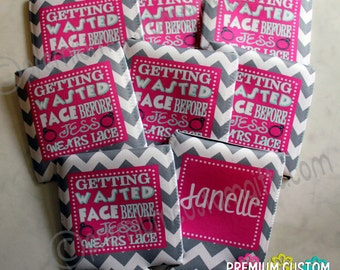 Set of 8 Custom Bachelorette Coolers - Wedding Coolers - Bridal Party Gift - Fun Designs Available
