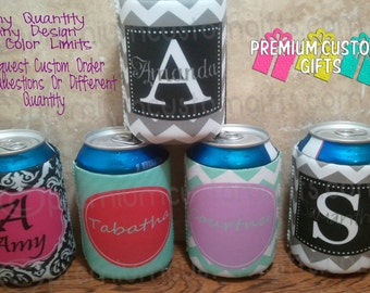 Personalized Coolers - Custom Cooler Designs - No Minimum Order Required - Monogrammed Coolers - Can Coolers - Fits 12 oz can and bottles