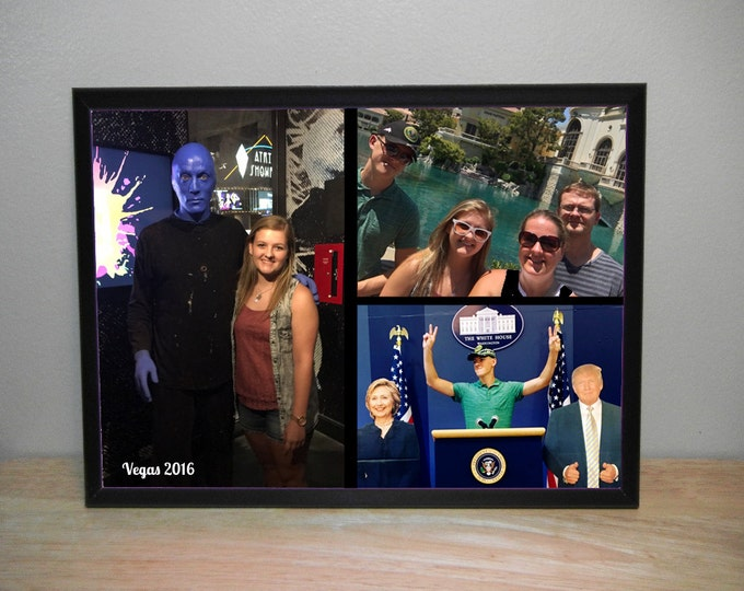 8 x 10 Vacation Picture Plaque With Your Family Pictures, Prom Photo, Baby Photo Predrilled Mounts on Back for Easy Wall Hanging