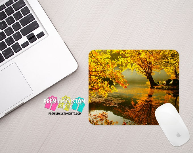Fall Scenery Mouse Pad - Nature Mouse Pad - Office Mouse Pad - Custom Mouse Pad - Personalized Mouse Pad - Mousepad - Home Office - Desk Set