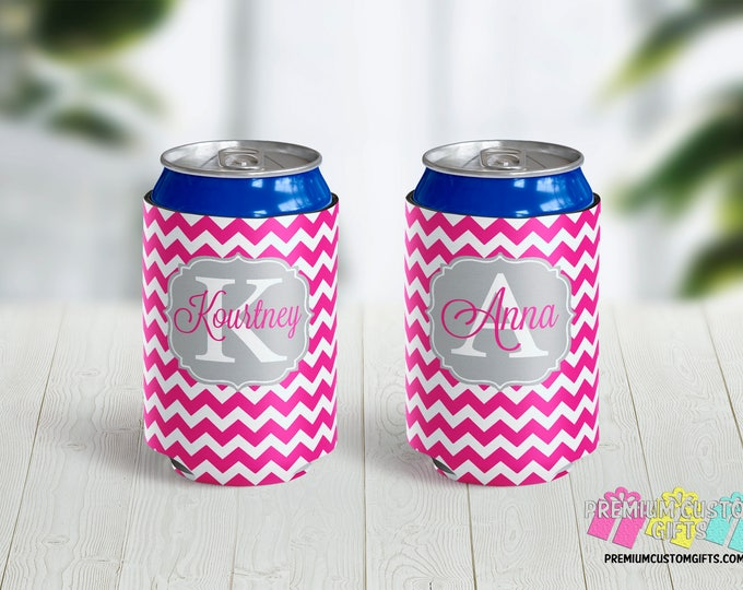 Custom Beer Can Coolers - Personalized Can Coolies - Bachelorette Can Coolers - Vacation Can Coolers - Girls Trip Can Coolies - Beer Can