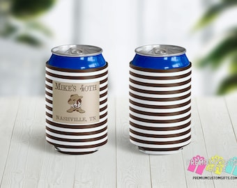 Nashville Party Can Coolers - 40th Birthday Party Can Coolers - Personalized Can Coolies - Monogrammed Beer Can Coolers - Custom Can Cooler