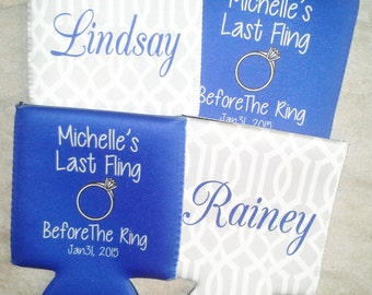 Set Of  4 Personalized Coolers -  Choose the Design - Custom Coolers - For Any Occasion - Birthday - Wedding Coolers - Bachelorette Coolers