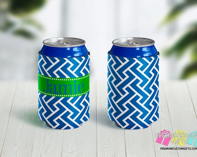 Monogrammed Can Coolers - Can Coolies - Vacation Can Coolers - Beach Trip Can Coolers - Bachelorette Party - Family Reunion Can Coolers