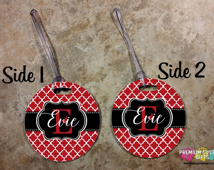 Personalized Monogrammed Luggage Tag - Custom Travel Luggage Tag - Bag Tags - Monogram Bag Custom Tag - Personalized Tag - Design #BT128
