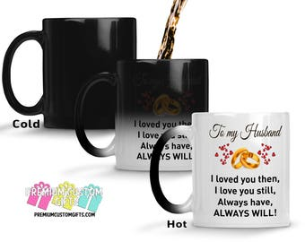 Color Changing Mug - To My Husband Morphing Mug - Gift for Him - Christmas Gift - Made In The USA - Coffee Mug - Anniversary Gift Cup