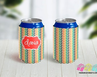 Personalized Can Coolers - Custom Can Coolers - Monogrammed Can Coolers - Bachelorette Can Coolers - Vacation - Family Reunion Party Favors