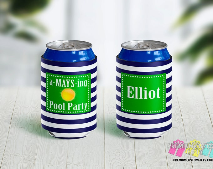 Pool Party Can Coolers - Personalized Can Coolers - Bachelorette Can Cooler - Custom Coolies -   Fun in the Sun Can Coolers - Party Favors