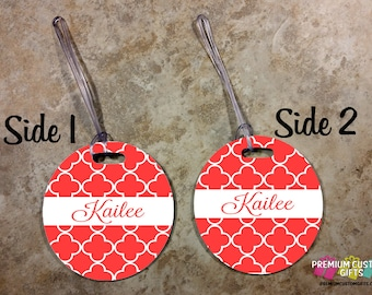 Custom Monogrammed Luggage Tag - Custom Travel Luggage Tag - Bag Tags - Monogram Bag Personalized Tag - Customize Tag - Design #BT129