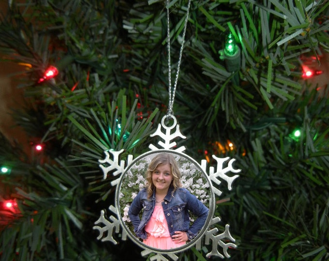 Pewter Christmas Ornament - Our First Christmas Ornament - Wedding Gift - Christmas Gift - Grandparent - Teacher - Office Gift Design #OR117