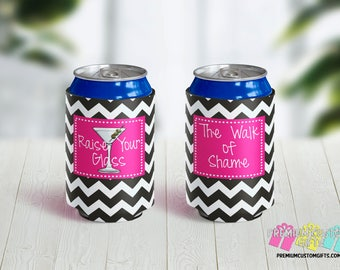 Raise Your Glass Can Coolers - Can Coolies - Vacation Can Coolers - Beach Trip Can Coolers - Bachelorette Party - Concert Can Coolers