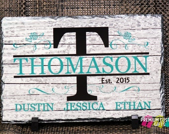 Real Slate For Wedding, Bridal Shower, Anniversary, Any Occasion Gift - Personalized Slate Design #SL106