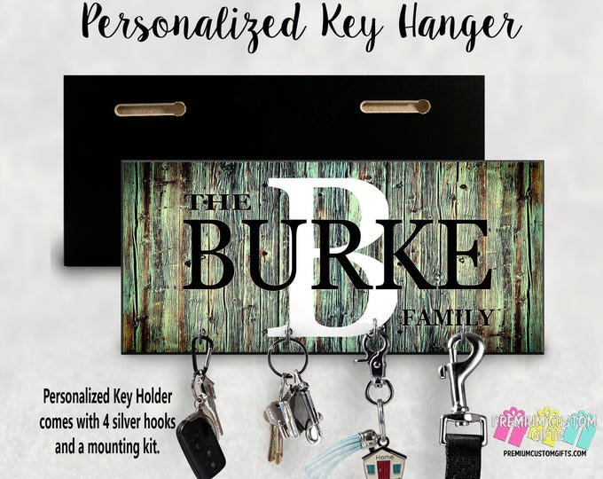 Personalized Key Hanger- Wedding Gift - Anniversary Gift - Key Holder - Housewarming Gift - Personalized Gift - Wall Key Rack - Key Rack
