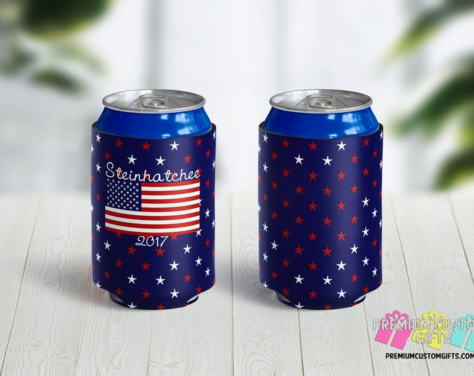 4th of July Can Coolers - Vacation Can Coolers - Birthday Coolers - Wedding Coolers - Bachelorette Can Coolers - Custom Can Coolies
