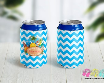 Personalized Vacation Can Coolers - Beach Vacation Can Coolers - Family Vacation Can Coolies - Custom Can Coolers - Girls Trip Can Coolers
