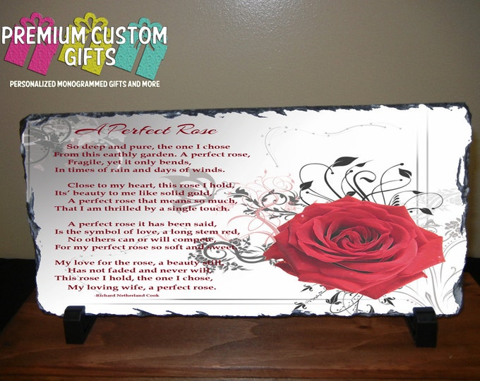 "New 5"" x 11"" x 3/8"" Rectangle Slate Great Valentine's Day Gift Great For The Home Or Office Keep Image Or Use YOUR OWN IMAGE! Design#SL105"