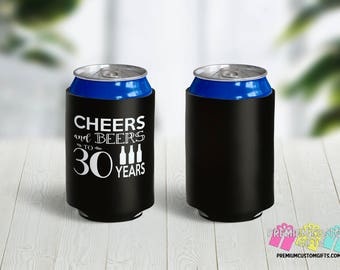 Cheers and Beers Can Coolers - Can Coolies - Vacation Can Coolers - Beach Trip Can Coolers - Bachelorette Party - 30th Birthday Can Coolers