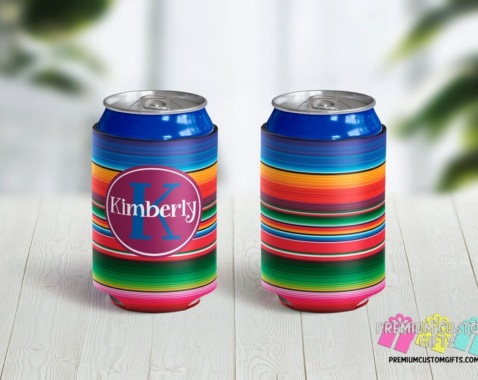 No Minimum Quantity Can Coolers - Personalized Can Coolies - Monogrammed Beer Can Coolers - Vacation Coolers - Bachelorette Can Coolers