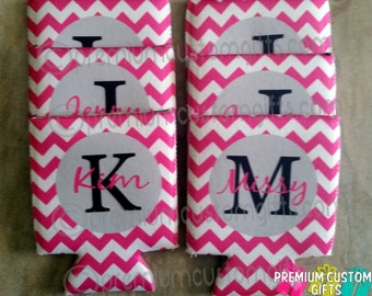 Custom Chevron Pattern Can Cooler - Fits 12 oz Cans And Most Bottles Design #K112