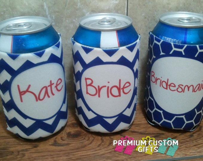 Set of 3 Personalized Coolers - Bachelorette Coolers - Wedding Coolers - Or Any Occasion Design#K131
