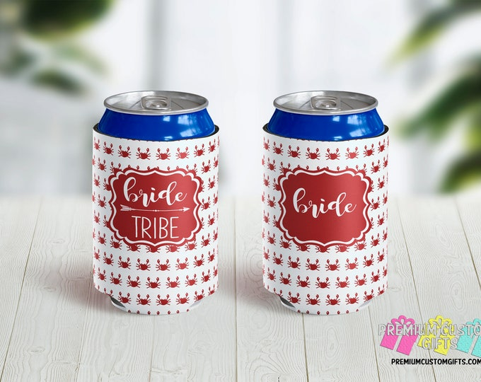 Bride Tribe Can Coolers - Monogrammed Can Coolers - Can Coolies - Vacation Can Coolers - Beach Trip Can Coolers - Bachelorette Party