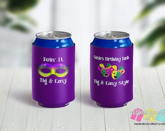 Big Easy Vacation Can Coolers - NOLA Bachelorette Can Cooler - Personalized Can Coolies - Monogrammed Beer Can Coolers - Bachelor Can Cooler